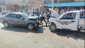 إصابة 13 شخصاً في تصادم سيارتين بأبو صوير
