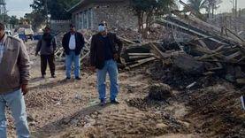 وقف وإزالة تعديات علي أرض زراعية في بني مزار والمنيا