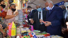 وزير التموين ومحافظ الجيزة يفتتحان معرض «أهلاً مدارس» بفيصل