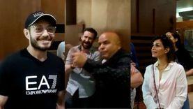 """عادل شكل يحتفل مع أبطال """"زنزانة ٧"""" بالإسكندرية على طريقته الخاصة"""