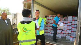 صناع الخير: توزيع 200 طن مواد غذائية و 23 ألف قطعة ملابس في 4 محافظات