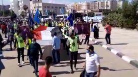 مسيرة بعلم مصر لطلاب البحيرة لحث المواطنين على المشاركة بالانتخابات