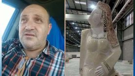 """أول فيديو لـ """"أحمد عبدالكريم"""" صاحب تمثال """"مصر تنهض"""""""