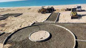 تنفيذ المرحلة الثانية للشاطئ العام بمدينة أبو زنيمة بجنوب سيناء