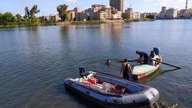 انتشال جثة غريق في النيل بالقناطر الخيرية