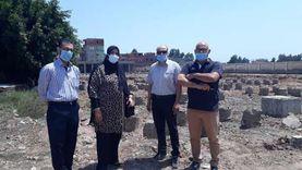 وكيل صحة كفر الشيخ تتفقد موقع إنشاء مستشفى الرياض المركزي