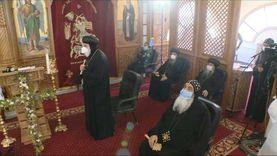 5 أساقفة يشاركون بصلوات تجنيز الراهب القمص أنجيلوس الأنطوني بالخطاطبة