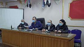 رئيس مدينة المحلة يوجه برفع درجة الاستعداد للأمطار وموجة كورونا الثانية