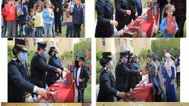 ضباط الشرطة يزوروندور الأيتام وذوي الإعاقة في الجيزة والإسكندرية