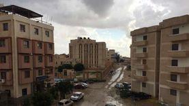 سقوط أمطار خفيفة على مدينة مرسى مطروح والساحل الشمالي