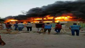 5 ملايين جنيه خسائر حريق مخازن الخانكة.. وانهيار المبنى