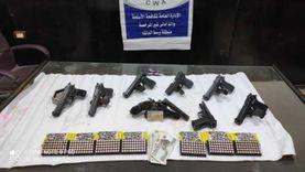الداخلية تواصل جهودها لضبط تجار الأسلحة والذخائر في المحافظات