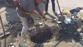 صيانة وتطهير بالوعات المطر بضواحي بورسعيد