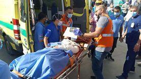نقل مصاب فلسطيني من العريش لتلقى العلاج بمعهد ناصر بالقاهرة