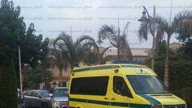 إصابة 17 عاملا إثر انقلاب سيارة ربع نقل بصحراوي المنيا