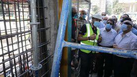 وزير النقل يتابع أعمال التدعيم الإنشائي لعمارة الشربتلي بالزمالك