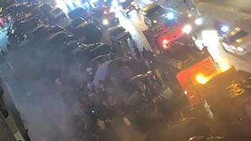 بالفيديو.. حريق في سنتر التوحيد بالمقطم
