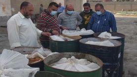 إعدام 47 طن أغذية فاسدة بمصنع للمواد الغذائية في الشرقية