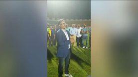 مصطفى يونس يرافق قدامى الإسماعيلي في مران الدراويش لدعم اللاعبين