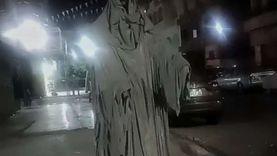 تمثال «شبح» يثير الذعر في شوارع الإسماعيلية.. وتدخل حكومي عاجل