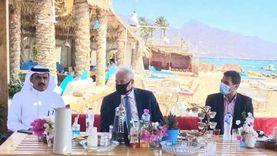 محافظ جنوب سيناء يهنئ مشايخ القبائل البدوية بعيد الفطر