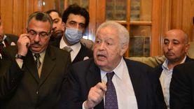 """رجائي عطية يزور اتحاد المحامين العرب بعد """"الخناقة"""": أحداث مؤسفة"""
