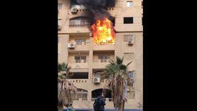 فيديو.. النيران تلتهم شقة بجوار نفق السخنة والسكان يستغيثون