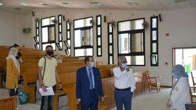 """طلاب """"تجارة بورسعيد"""" يؤدون الامتحانات بإجراءات احترازية مشددة"""