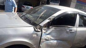 إصابة 6 أشخاص في حادث تصادم سيارتين بأسيوط