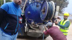 صور... 112 معدة و50 طلمبة غاطسة و540 عاملا لمواجهة الأمطار بالقليوبية