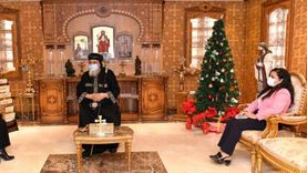 البابا تواضروس يستقبل مايا مرسي و4 سفراء أجانب بالقاهرة
