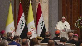 عاجل.. بابا الفاتيكان من العراق: لا يمكن الصمت عندما يسيئ الإرهاب للدين