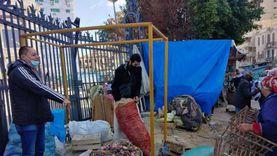 حملة لإزالة إشغالات الباعة الجائلين بـ«محطة مصر» في الإسكندرية