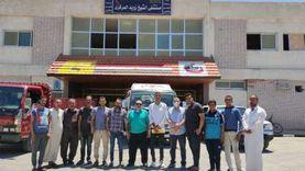 وصول تجهيزات طبية لمستشفى الشيخ زويد تضم أسرّة عناية مركزة وأجهزة تنفس