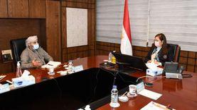 وزيرة التخطيط تلتقي مسؤولا إماراتيا للتعاون في مجالات التحول الرقمي