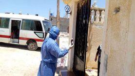 توزيع أدوية على المخالطين لمصابي كورونا واستمرار حملات التعقيم بمطروح