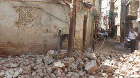 انهيار جزئي لمنزل دون خسائر بشرية في أسيوط