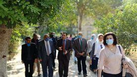 """لجنة من """"تحيا مصر"""" و""""القومي للتنسيق الحضاري"""" يتفقدان حديقة الجيزة"""