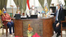 محافظ جنوب سيناء يتابع الموقف من تنفيذ مشروعات البنية التحتية