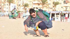 """حملة لنظافة شاطئ """"الأنفوشي"""" من البلاستيك للحفاظ على البيئة البحرية"""