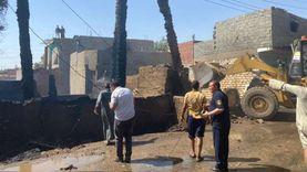 السيطرة على حريق بمنزل وحوشين ونفوق 12 ماشية بسوهاج (صور)
