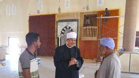 وضع اللمسات الأخيرة لافتتاح مسجد الروضة بالطور ضمن احتفالات أكتوبر «صور»