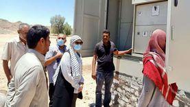 رئيس مدينة سفاجا تتفقد مشروعات «حياة كريمة» بقرية النصر