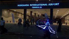 مطار الغردقة يستقبل أولى رحلات مولدوفا بالمزمار البلدي