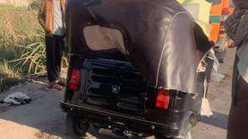 مصرع صبي في حادث تصادم «توك توك» بسيارة نقل في بنها