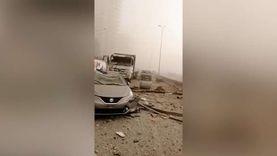 اللحظات الأولى عقب الانفجار في العاصمة اللبنانية بيروت