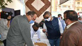 محافظ الفيوم يتفقد أعمال توريد القمح المحلي بالصوامع
