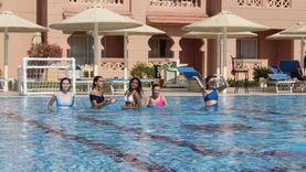 ملكات جمال العالم يروجن للسياحة من الغردقة بممارسة الألعاب الرياضية