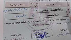 صور.. 143 صوتا للقائمة الوطنية و50 لنداء مصر بلجنة قسم أول أكتوبر