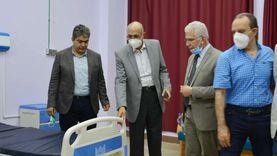 رئيس جامعة طنطا يتفقد أعمال التطوير بمستشفى الباطنة